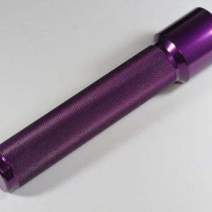 Peitschengriff gerändelt - poliert, lila eloxiert